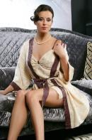 Халат натуральный шелк Амелия 5713